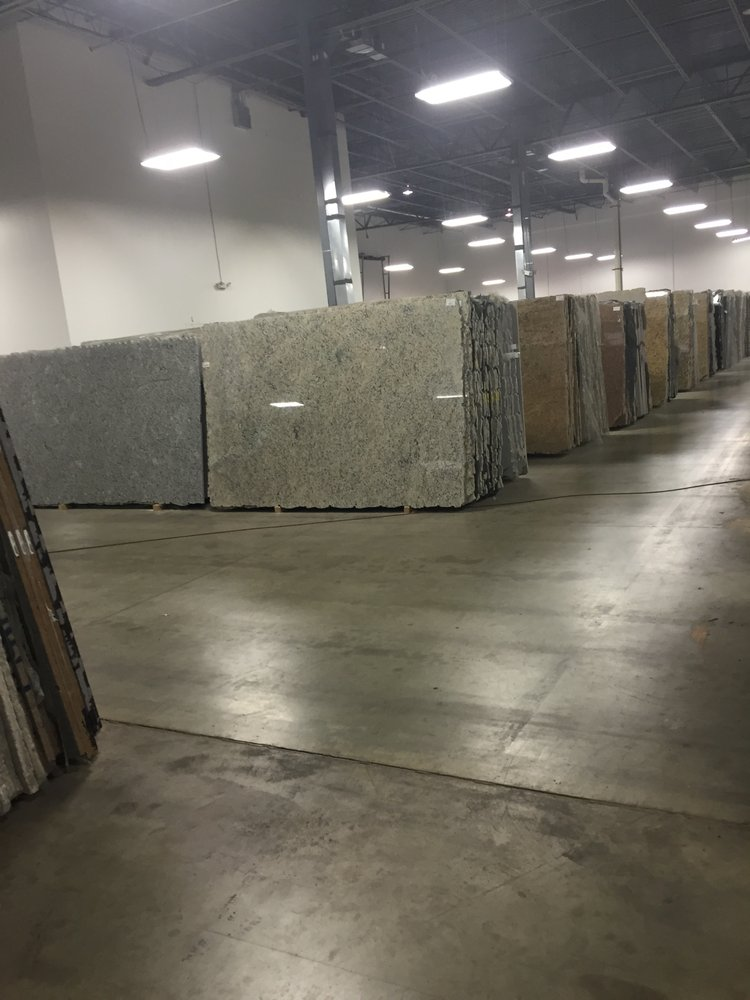 warehouse of granite countertops