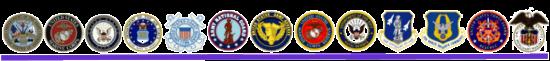 Military Logo Row