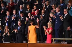 Cynthia Dias seated 2nd from First Lady Michelle Obama!!!! Veterans Village is proud and honored. ‪#‎SOTU‬ 2016