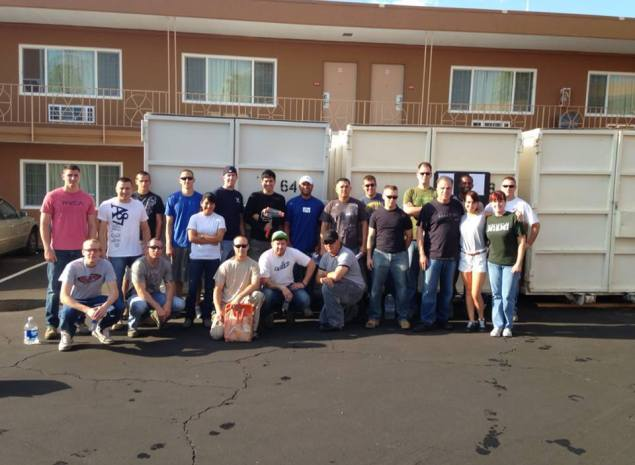 S H A R E (a non-profit organization) at Veterans Village with Nellis Air Force Base, Unit #99 LRS @ Veterans Village. 40 #volunteers from the #1 #AirForce on earth----We LOVE the US Air Force!