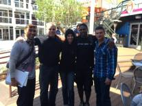 """With The Downtown Rangers, Christopher """"Sarge"""" Curtis, Meredith Spriggs, Roman Burns and Veterans Village General Manager Ron Tadmor at Container Park, Downtown Las Vegas. Great meeting and thank you to The Downtown Rangers"""