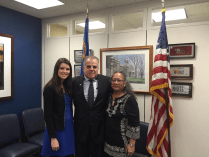Veterans Village Founder Arnold Stalk at U.S. Senator Dean Heller's office with Skarlett Doyle and Cynthia Dias. Great meeting advocating for all US veterans