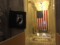 Never forget POW-MIA Flags displayed inside the United States Congress Building in Washington, District of Columbia
