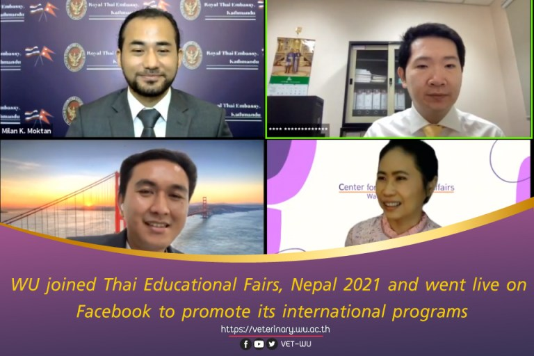WU joined Thai Educational Fairs, Nepal 2021 and went live on Facebook to promote its international programs