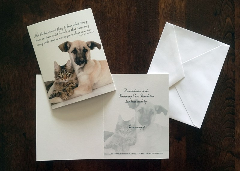 Dog & Cat Memorial Card