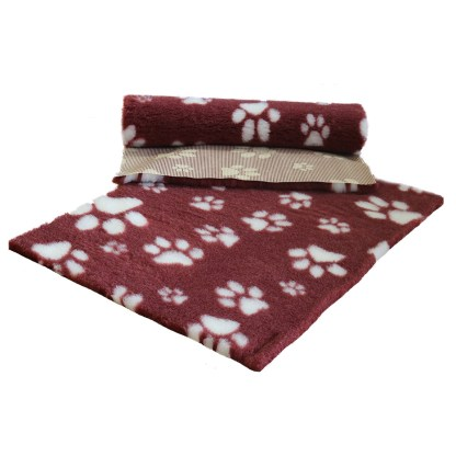 Vetfleece Non-Slip Multi Paws Heather with White Paws