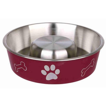Slow Feeding Bowl 1 Litre Red