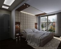 Fabric accent wall - Bedroom design ideas for a wall
