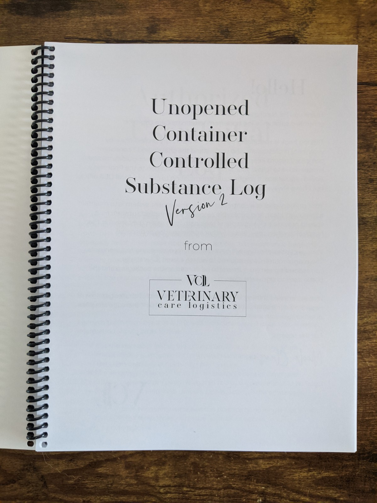 unopened container controlled drug log