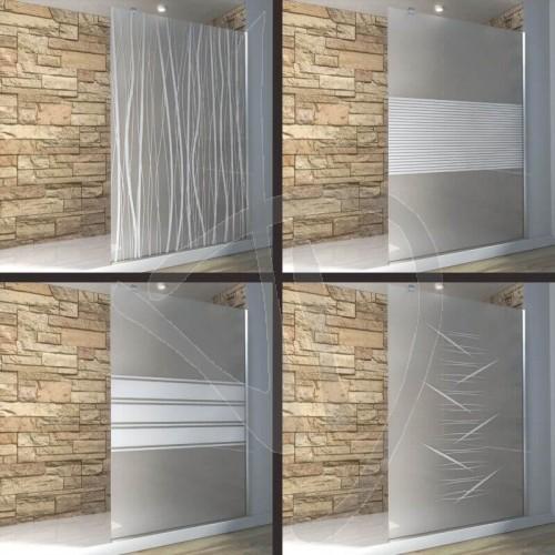 Vetri decorati per docce vetro doccia fisso arredo bagno