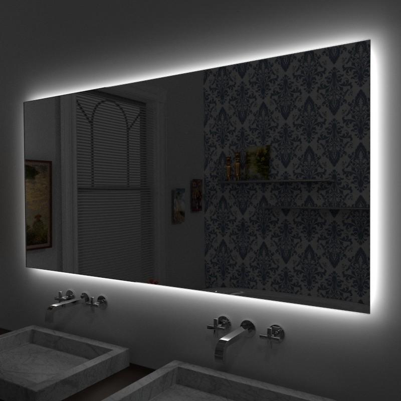 Specchio led specchio con led specchio illuminato su