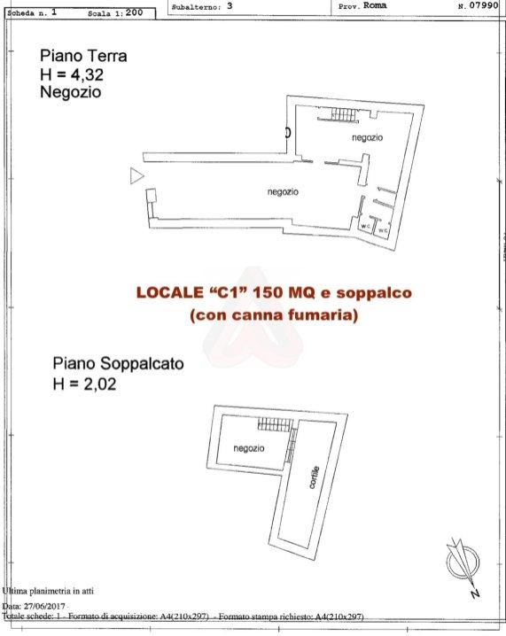 Affitto locale commerciale ci ghetto roma for Affitto locale commerciale 1000 mq roma