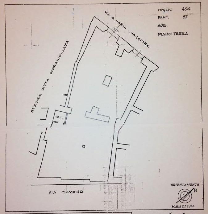 Planimetria Vendita Locale Commerciale Santa Maria Maggiore Uso Investimento