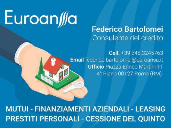 Partner di VetrinaFacile.it Federico Bartolomei Consulente del Credito di Euroansa S.P.A.