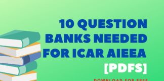 10 Question Banks Needed For ICAR AIEEA [Pdfs]