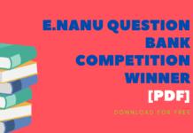 E.Nanu Question Bank Competition Winner