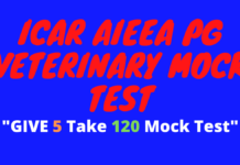 ICAR AIEEA PG Veterinary Mock Test