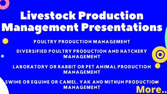 Livestock Production Management Presentations