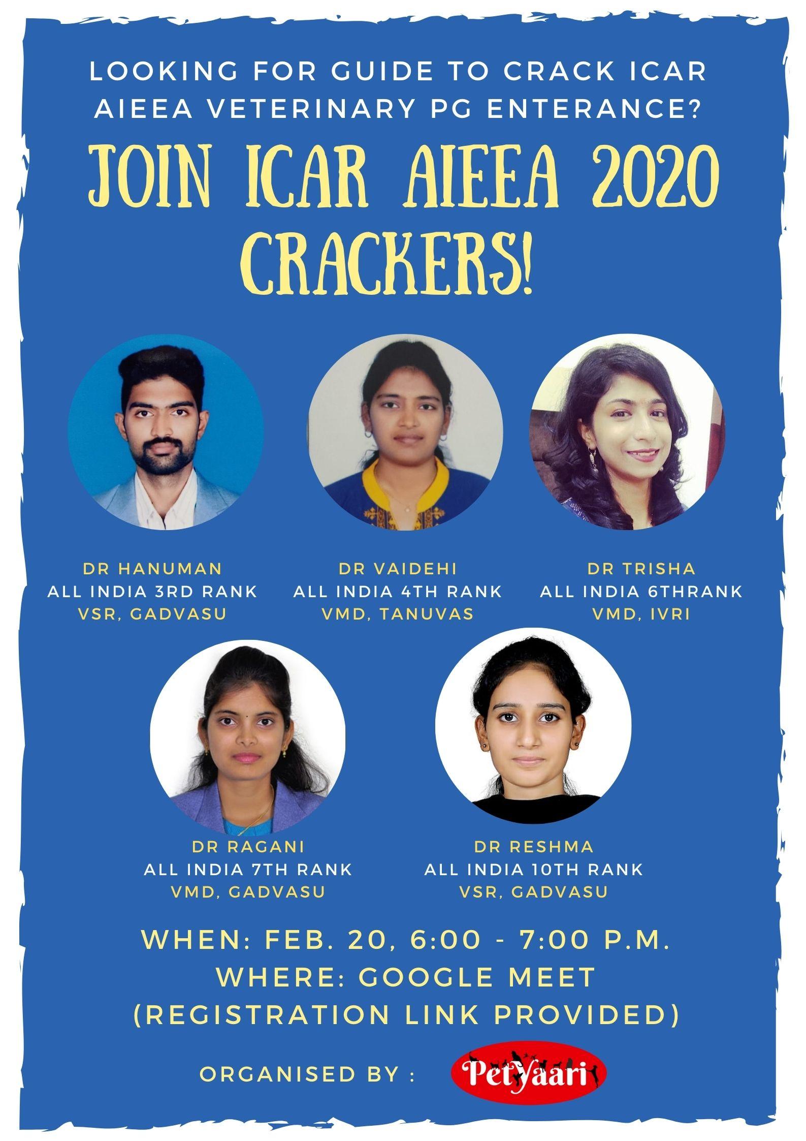 Final icar poster 1 • Join ICAR AIEEA 2020 Crackers