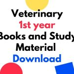 Veterinary 1st year Books and Study Material Download