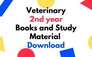 Veterinary 2nd year Books and Study Material Download