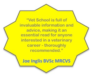 Vet School cover quote, Joe Inglis