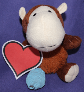 Monkey with a heart