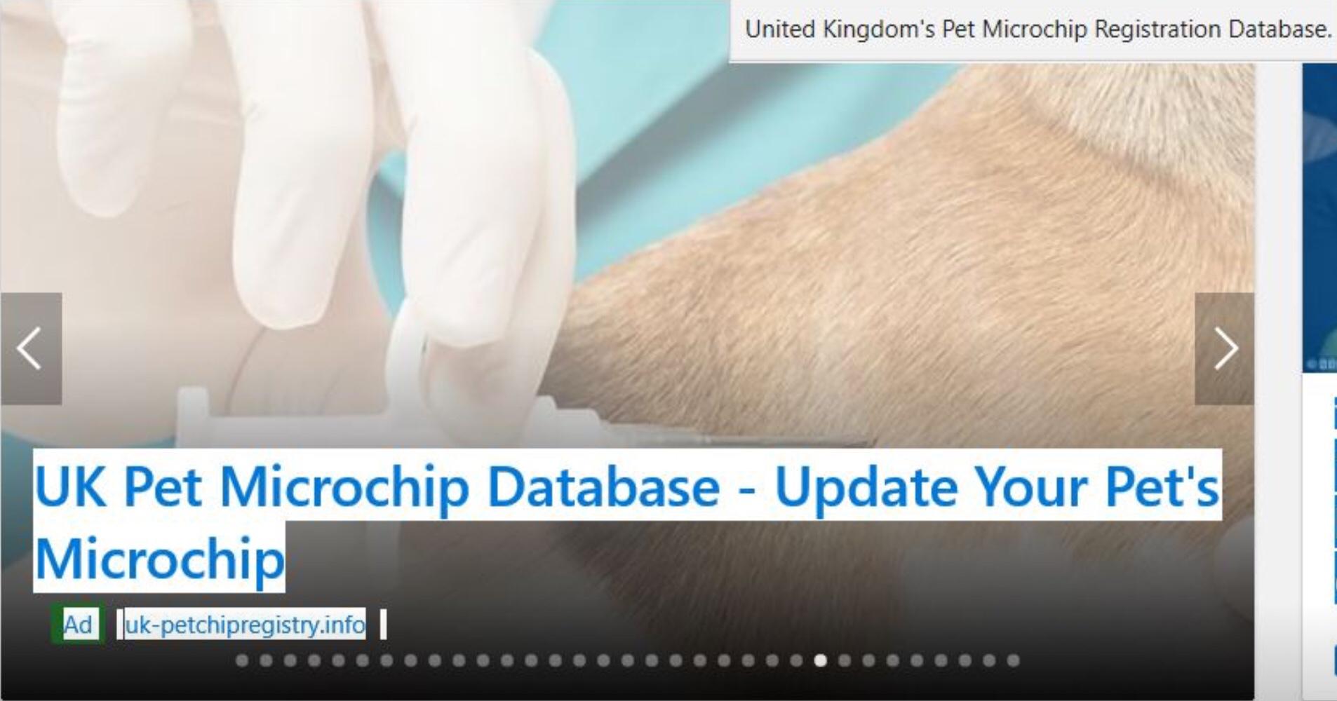 #FernsLaw point 8:- Statement on bogus UK pet microchip database