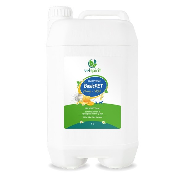BasicPET Conditioner - Honey & Milk - 5000 ml 1