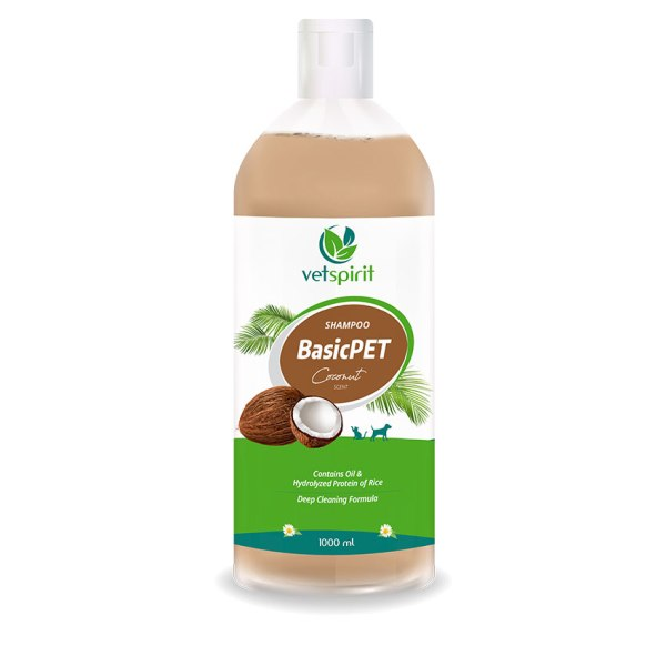 BasicPET Shampoo - Coconut - 1000 ml 1