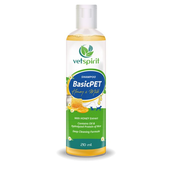 BasicPET Shampoo - Honey & Milk - 210 ml 1