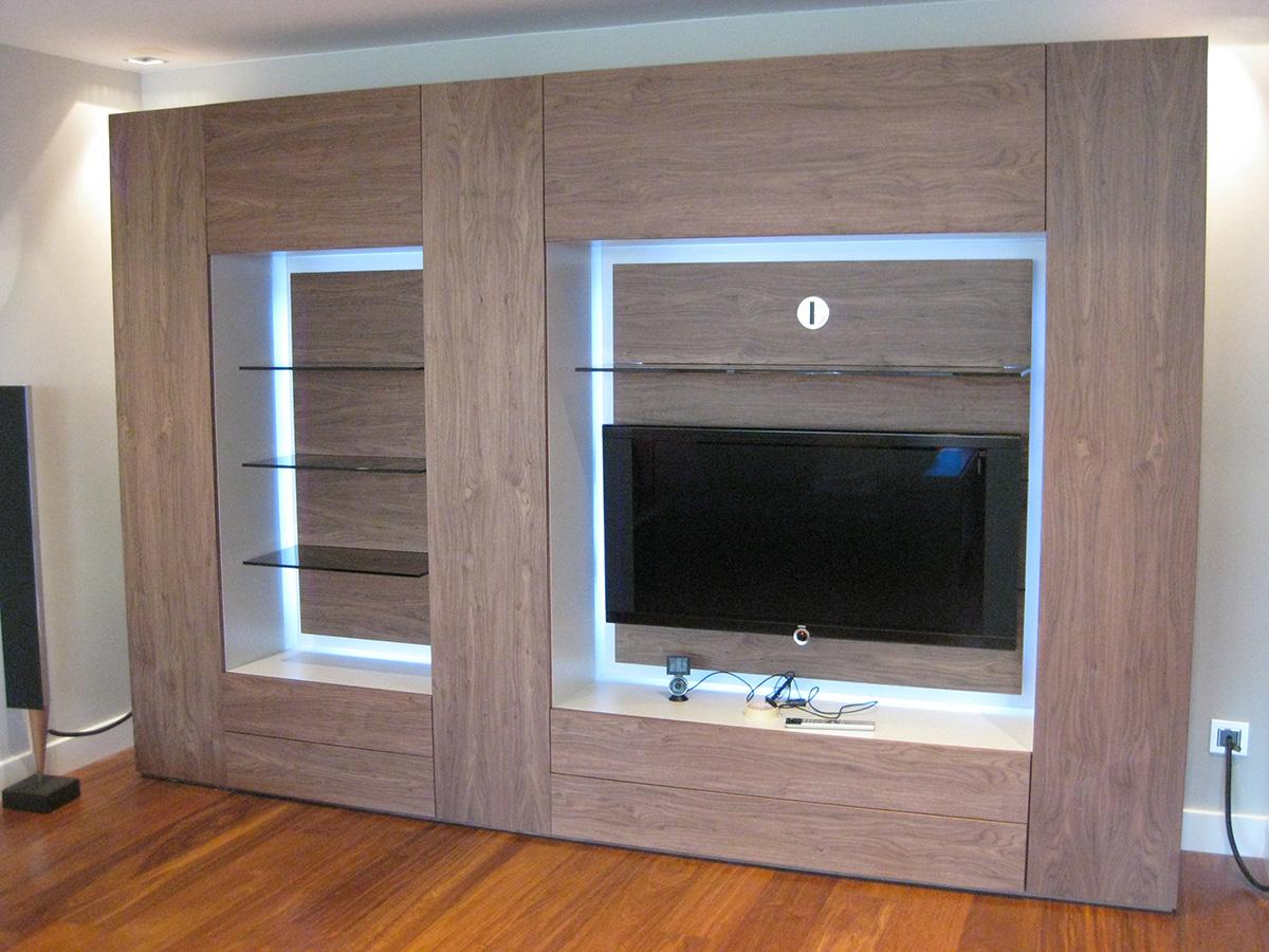Mueble de saln madera de nogal  VettaGrupo