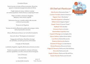 Vette&Forchette menu cena 31 Marzo 201
