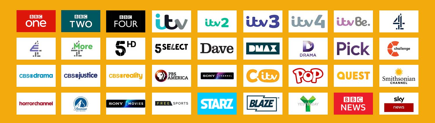 what free satellite channels uk