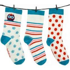 Lot de 3 chaussettes dépareillées (super concept, je vous mets le lien en dessous de l'article)