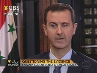 Башар Асад Снимка: CBS