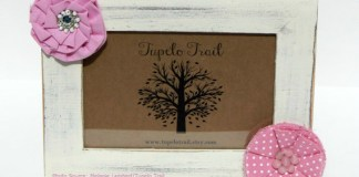 Tupelo Trail Picture Frame with Fabric Flowers