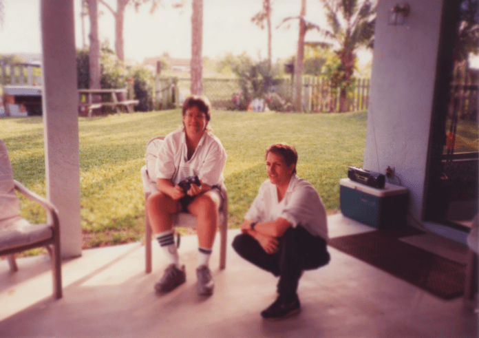 Uncle Ted and me, listening to Pink Floyd again, 1980-something