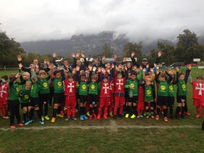 Plateau de football du 10 octobre 2020 à Compesière avec l'école de foot et jardin de foot