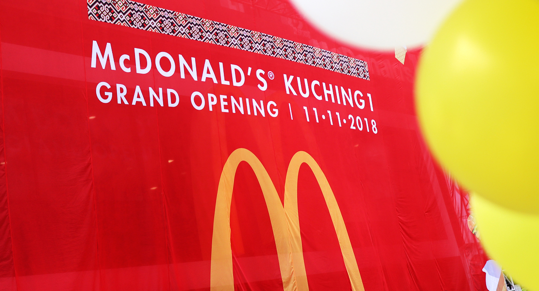McD putting the Happy in Meals since 1993 in Kuching - Happy 25th Birthday!