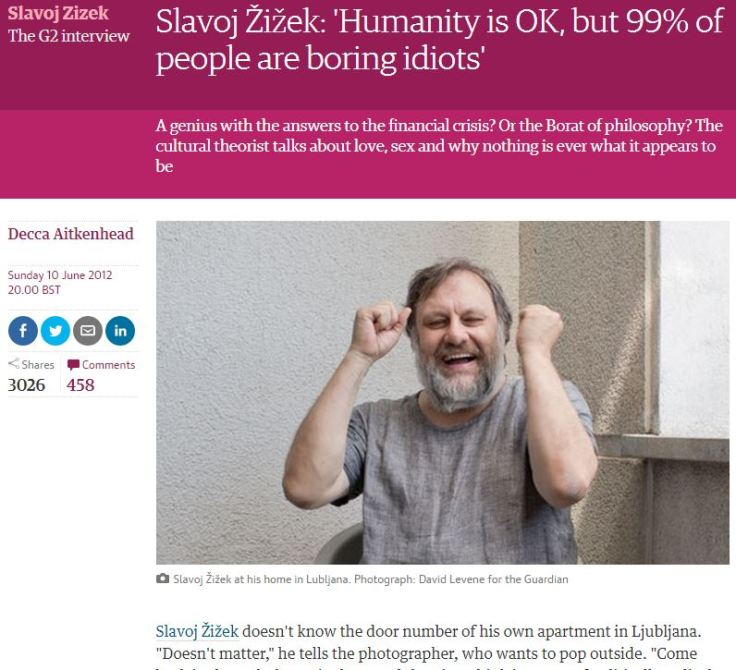 Žižek bitch Guardian