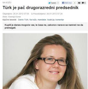 Koren Slovenske novice Tuerk