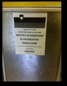 Janša molitev Vrbanska RKC zapor