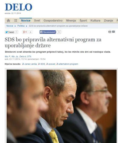 Delo SDS program za uporabljanje države