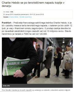 Charlie koplje v denarju STA Dnevnik