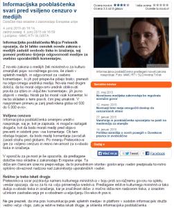 Vsiljena cenzura Pooblaščenka