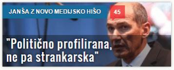 Janša medijska hiša politična ne strankarska