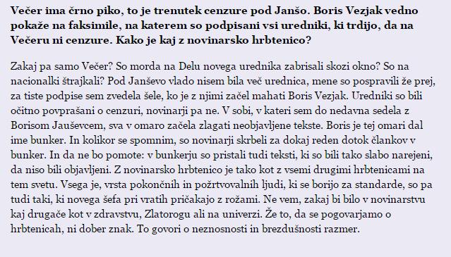Korade bunker intervju Mladina Vezjak