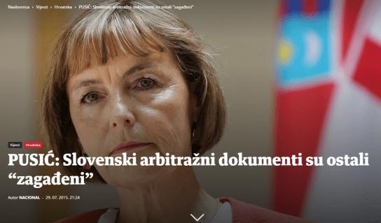 Pusić Nacional dokumenti arbitraža