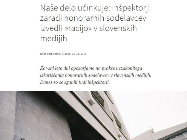 Podčrto inšpektorji mediji